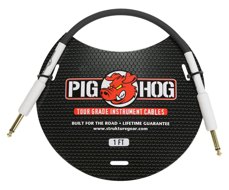 "Pig Hog 1ft 1/4""-1/4"" 8mm Inst. Cable"