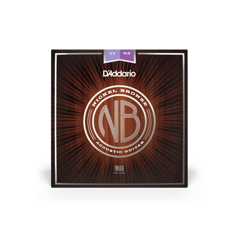 D'addario NB1152  Acoustic Guitar Nickel Bronze Custom Lite