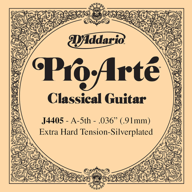 D'Addario J4405 Pro-Arte Nylon Classical Guitar Single String, Normal Tension, Fifth String