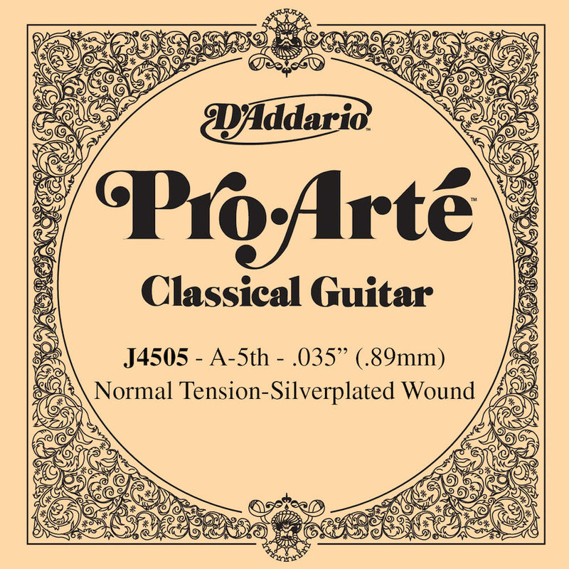 D'Addario J4505 Pro-Arte Nylon Classical Guitar Single String, Normal Tension, Fifth String