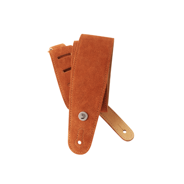 Suede Guitar Strap, Honey