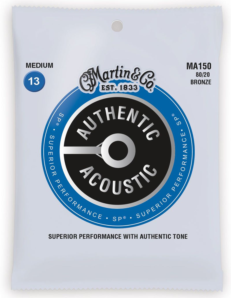 MA150 SP 80/20 Bronze Medium Acoustic Strings Martin