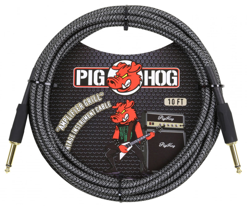 "Pig Hog ""Amp Grill"", 10ft 1/4""-1/4"" Instrument Cable"