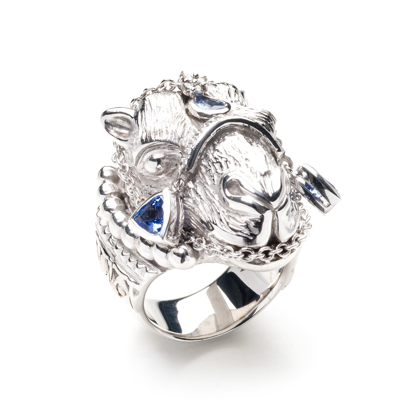 Parizade Camel Ring - 18k White Gold