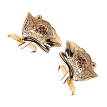 Load image into Gallery viewer, Shahryar Falcon Cufflinks - 18k Yellow Gold