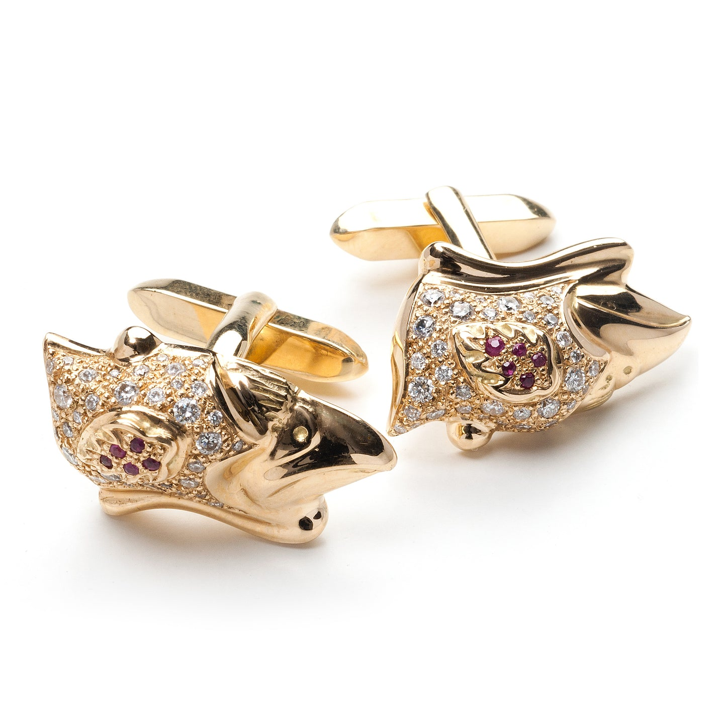 Shahryar Falcon Cufflinks - 18k Yellow Gold