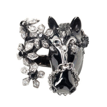 Load image into Gallery viewer, Scheherazade Horse Ring - 18k Black Gold
