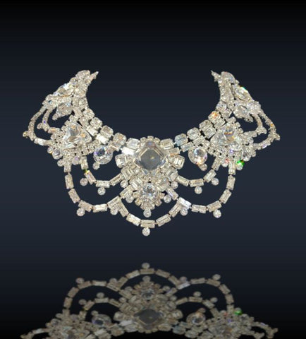 Lace Crystal Collar