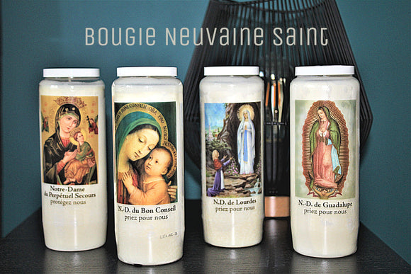 Bougie de neuvaine saints Divers