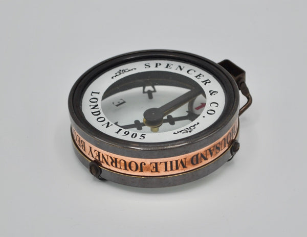 "Black 3"" Captain's Cabin Map Reading Compass in a special box"