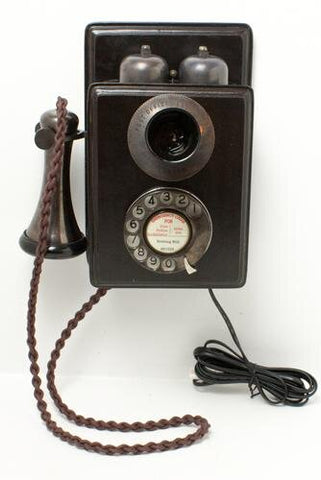 Bronze Wood Wall Telephone