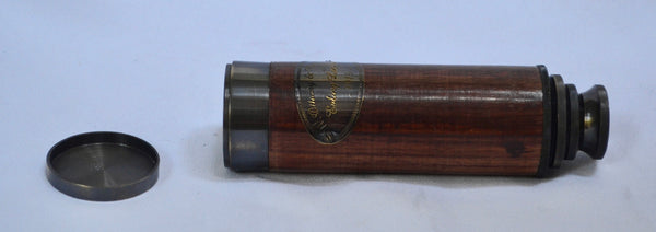 "16"" Black Wood Ottway 4 Draw Telescope in a wood box"