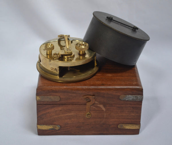 "3"" Pocket Box Sextant in a wooden box"