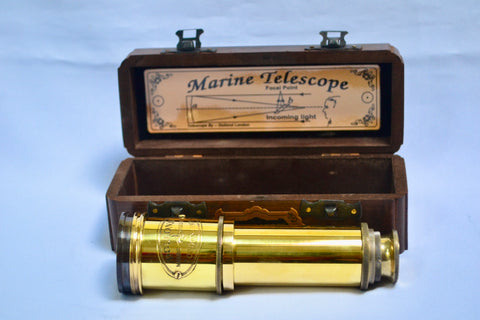 "20"" Polished Brass Dolland 4 Draw Telescope"