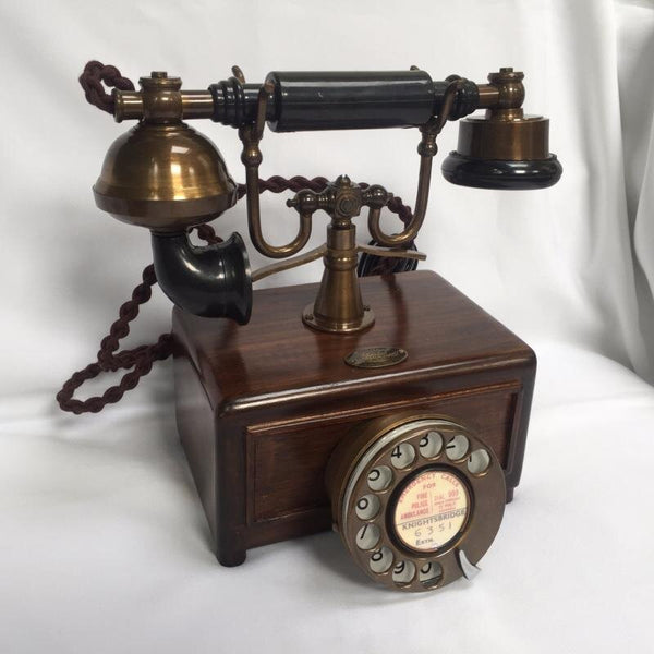 Bronze Square Box 1930s Style Cradle Telephone