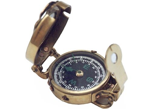 Brass Military-Style Scout Compasses