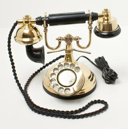 Brass Cradle Telephone