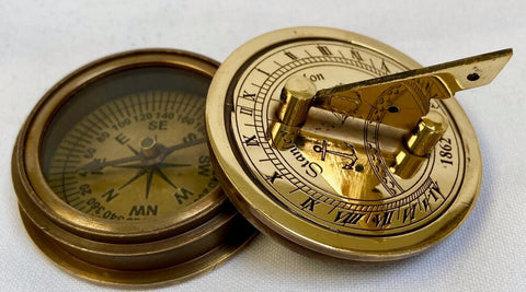 Brass Sunny Day Sundial Compass