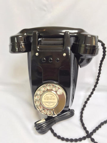 British GPO 1940's Black Wall Bakelite Telephone