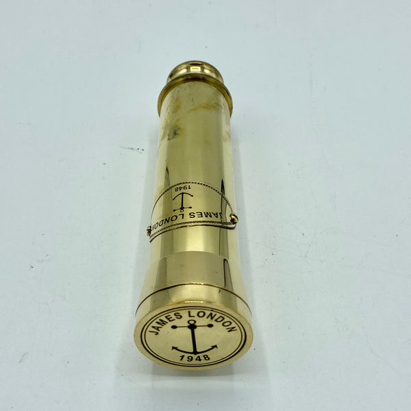 "13"" Brass James 2 Draw Telescope in a wood box"