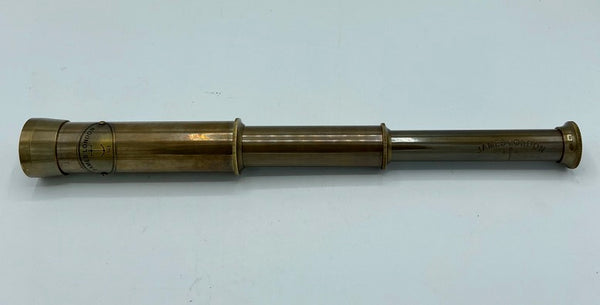 "13"" Bronze James 2 Draw Telescope in a wood box"