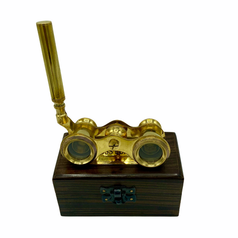 Brass Opera Glasses in a Wood Box