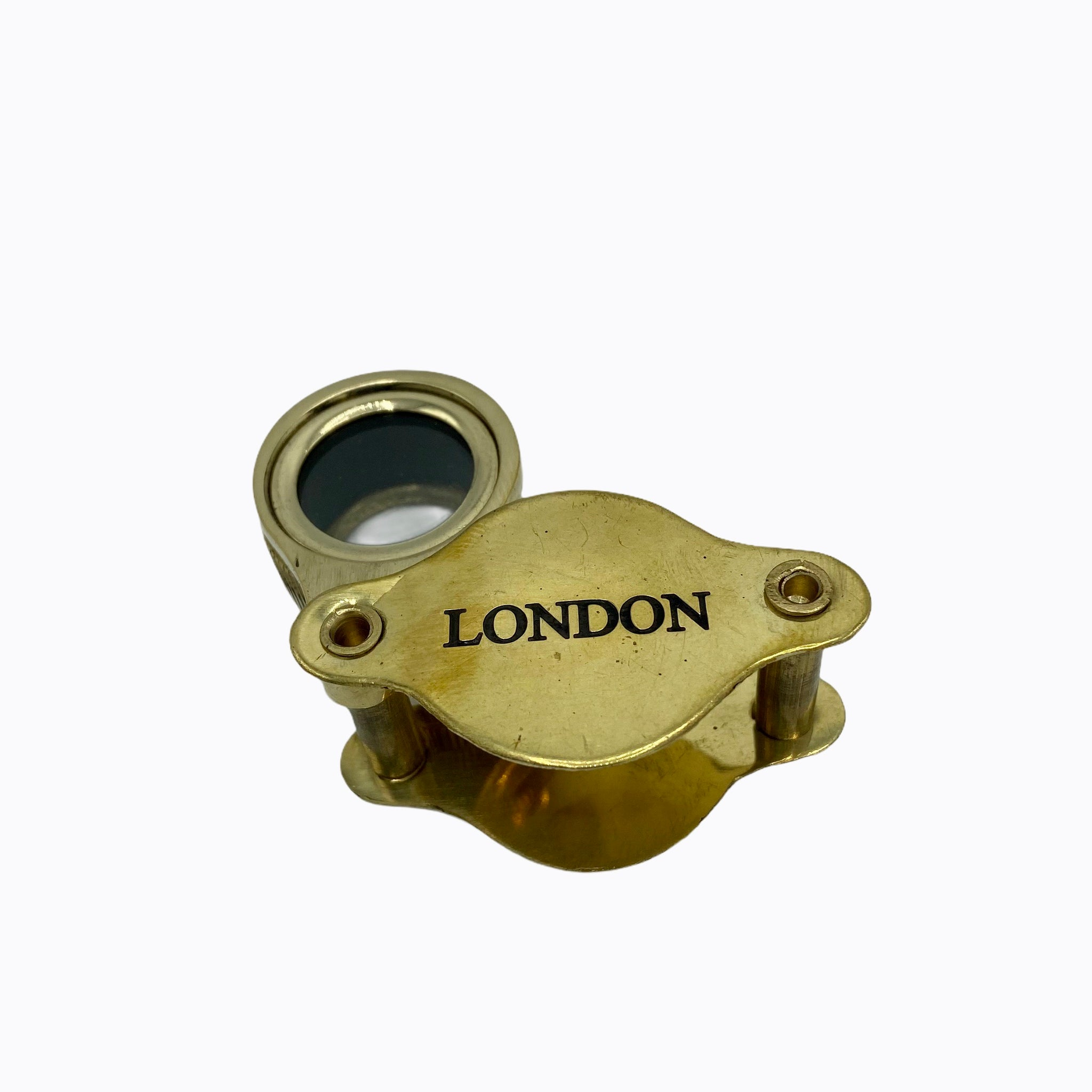 "Folding 2"" Jewellery Loupe Magnifiers ( Brass , Black or Chrome )"