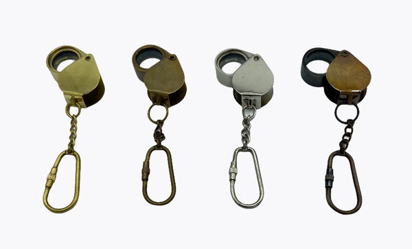 Anchor Heart Loupe Key Ring ( Brass , Bronze , Chrome & Black )