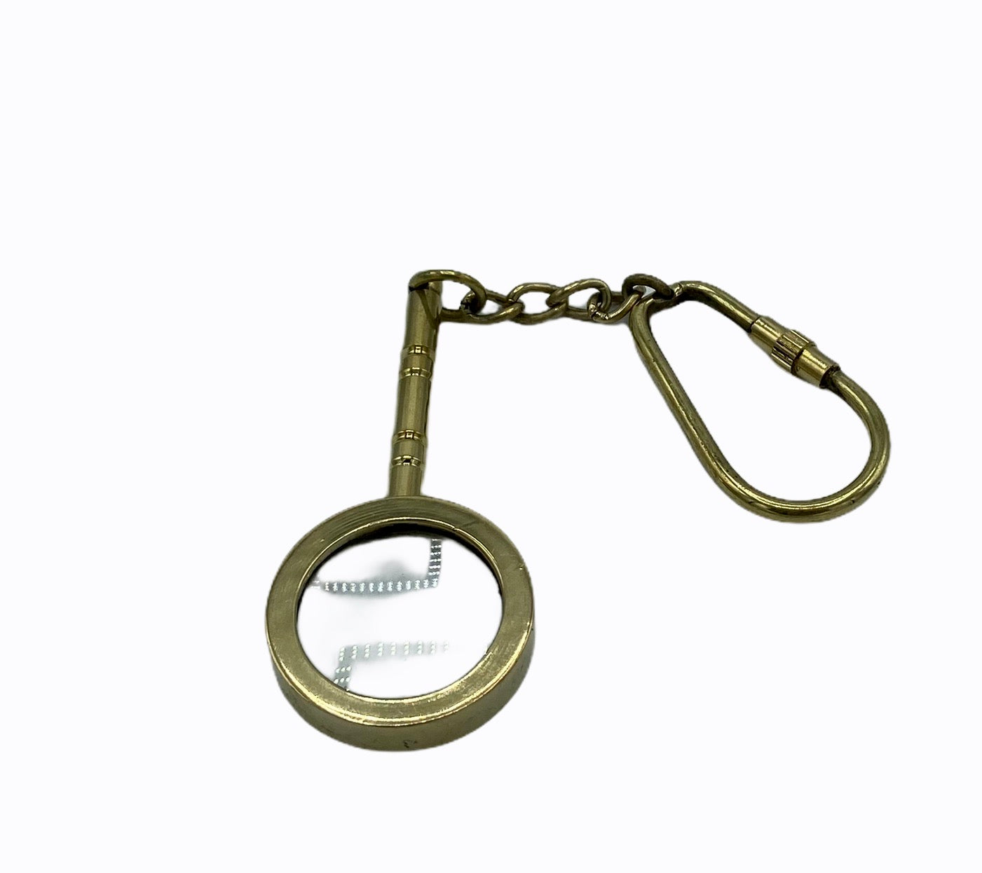Brass Handle Magnifier Key Ring