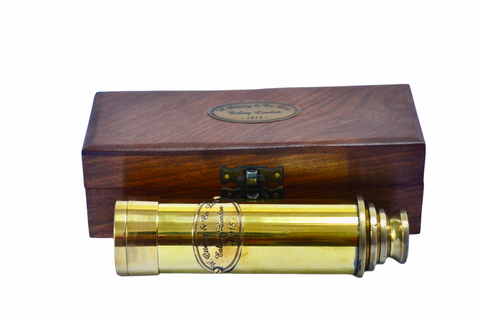 "16"" Brass Ottway 4 Draw Telescope in a wood box"