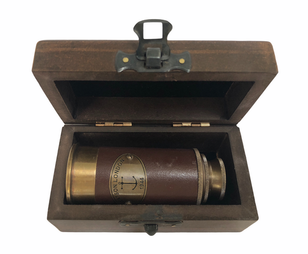 Bronze Leather Two-Draw Tubby Telescope
