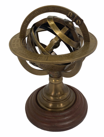 "Bronze 5"" Celestial Spherical Astrolabe or Armillary Sphere"