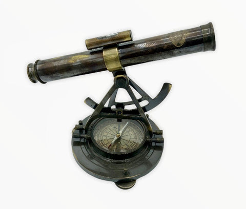 "Black Surveying Alidade with a 9-13"" Telescope & Compass"
