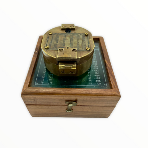"Bronze 2.5"" Brunton Pocket Transit Surveying or Geology Compass in a box"