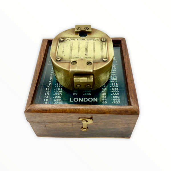 "Brass 2.5"" Brunton Pocket Transit Surveying or Geology Compass in a box"