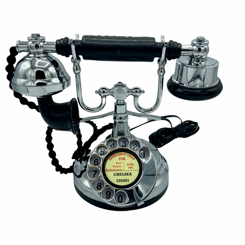 Chrome 1930's Style  Cradle Telephone