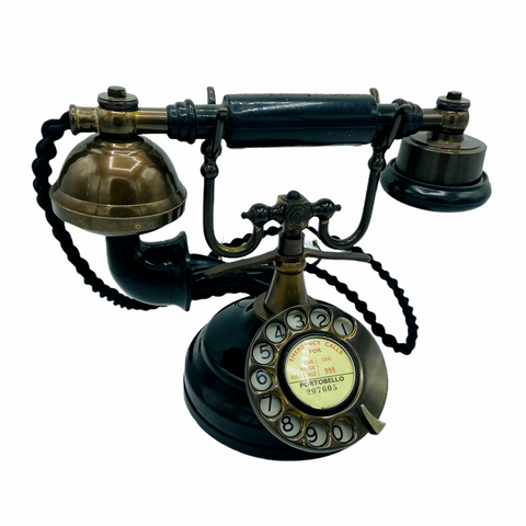 Black & Bronze 1930's style  Cradle Telephone
