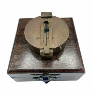 "2.5"" Bronze 3 in 1 Surveying Sighting Compass in a Wood Box"