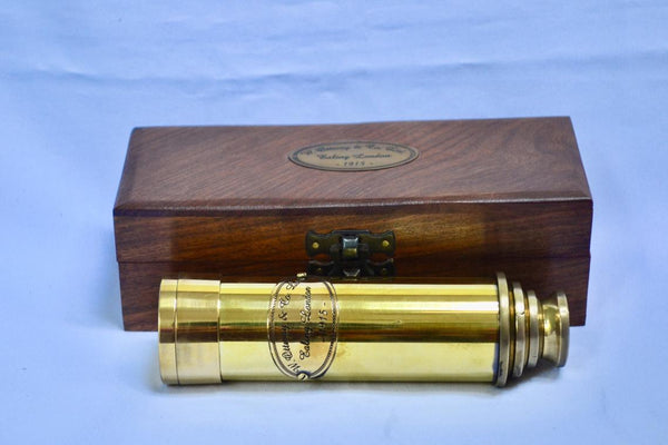 Polished Brass Four-Draw Ottoway Telescope