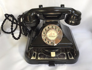 1930's English GPO King Pyramid Switching #232 Series Bakelite Telephone