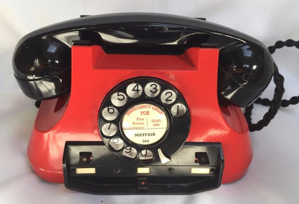 Red 1940's Switching Bell Telephone