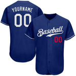 Custom Royal White-Red Authentic Baseball Jersey
