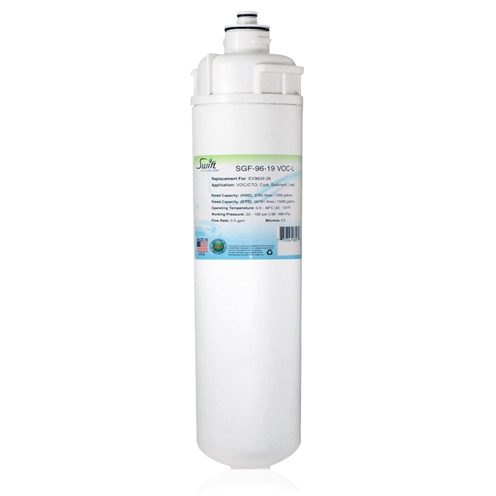 Replacement for Everpure EV9635-26,EP25,EP15 Filter by Swift Green Filters SGF-96-19 VOC-L