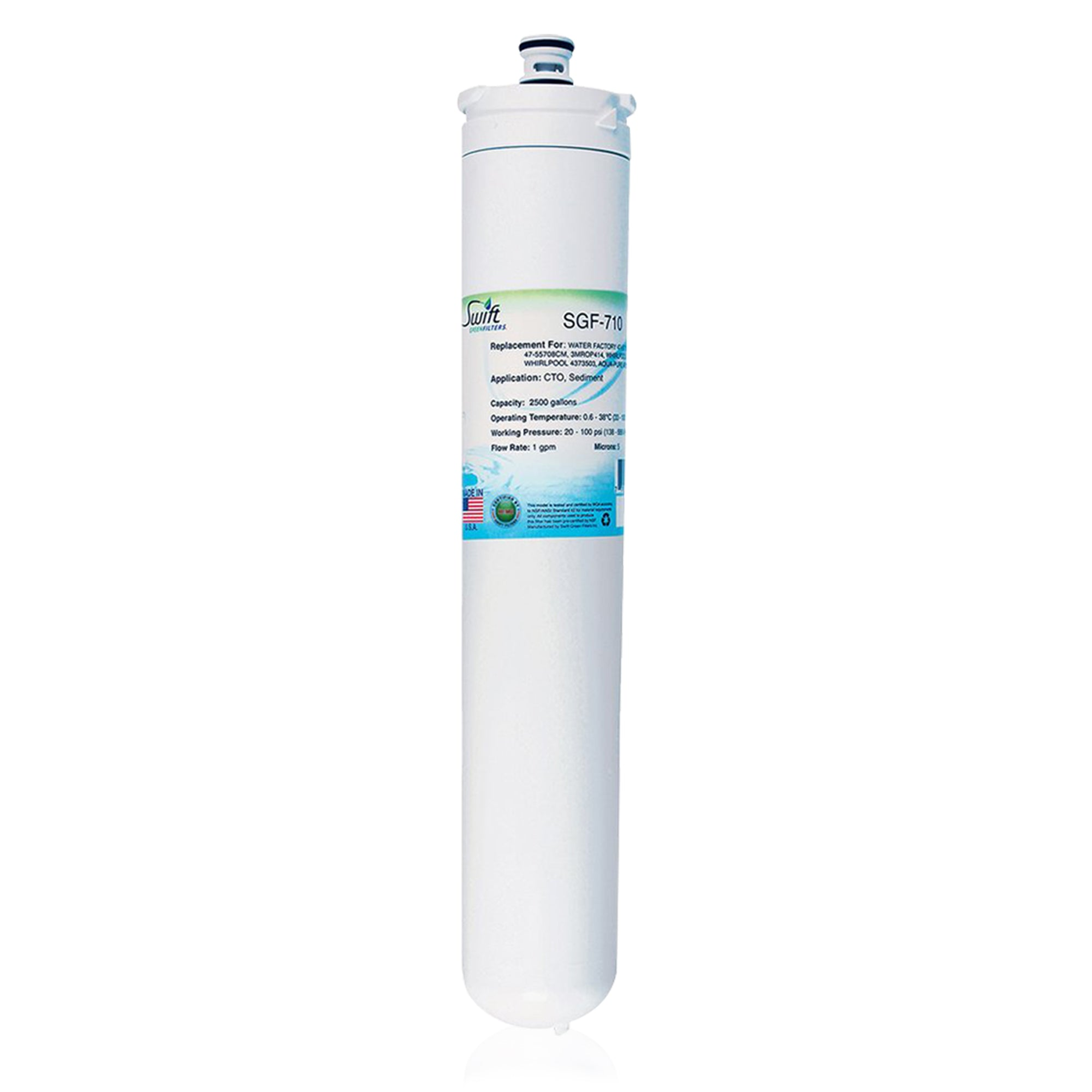 Replacement for 3M Water Factory 47-55710G2 Filter by Swift Green Filters SGF-710