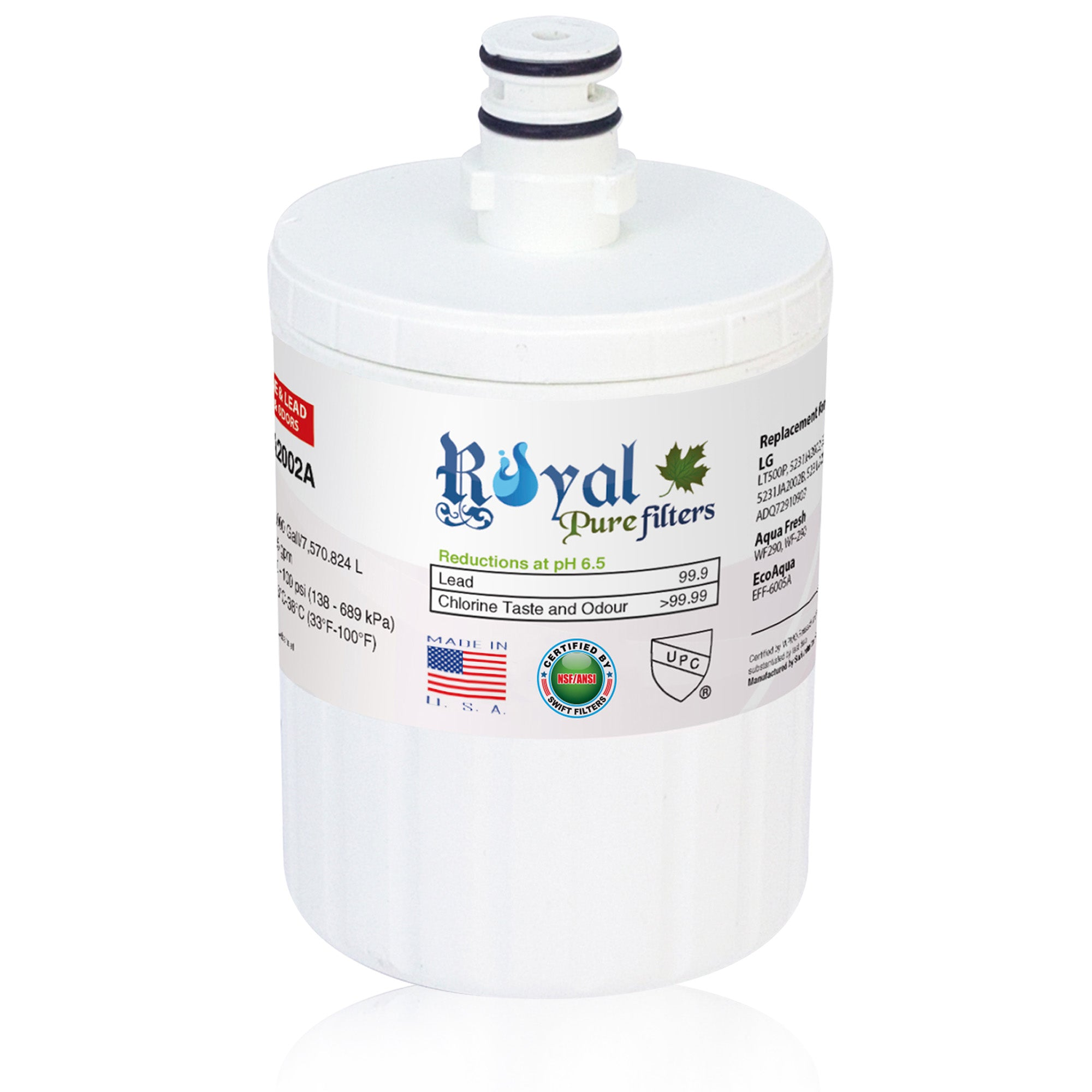 Replacement for LG 5231JA2002A, LT500P Compatible CTO Refrigerator Water Filter