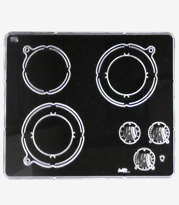 "Swift Canada 3 Burner Electric Cooktop 24"" Ceramic surface Black CSA Certified."