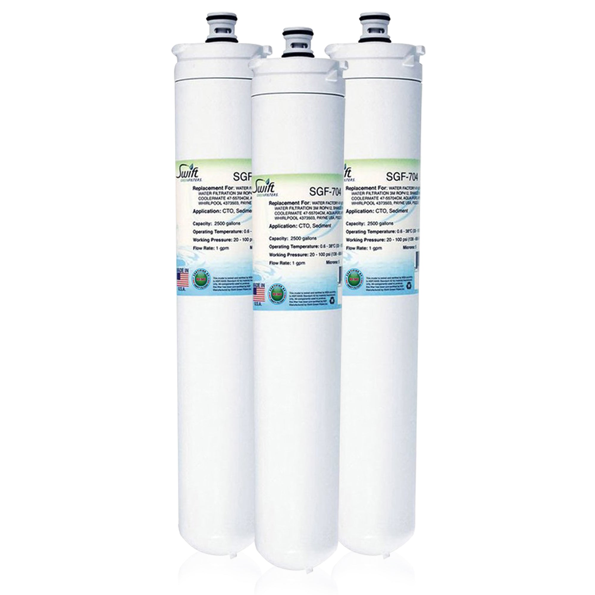 Replacement for 3M Water Factory 47-55704G2 Filter by Swift Green Filters SGF-704