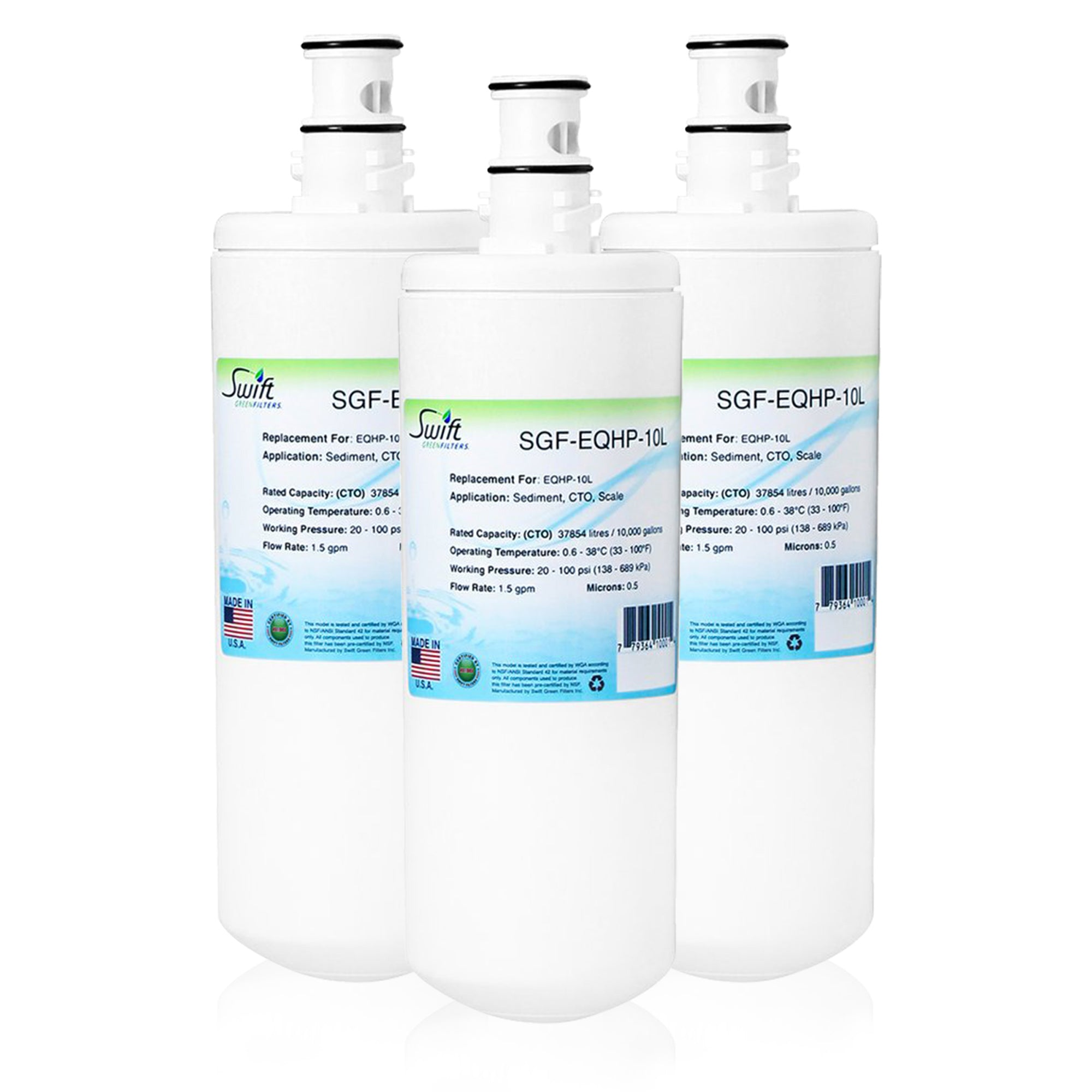 Replacement for Bunn EQHP-10L Water Filter by Swift Green Filters SGF-EQHP-10L
