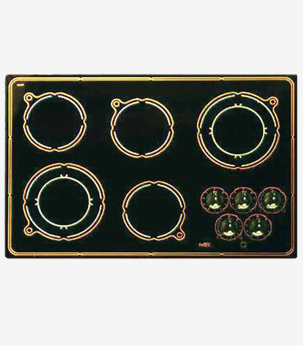 "Swift 5 Burner ELECTRIC COOKTOP COIL ELEMENTS 30"" Ceramic Black CSA certified Made in Canada"