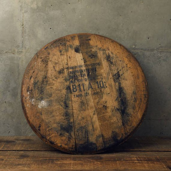 Bourbon Whiskey Barrel Head